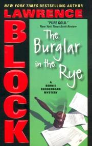 Cover of: The Burglar in the Rye (Bernie Rhodenbarr Mysteries) by Lawrence Block