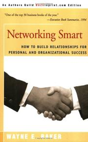 Networking Smart by Wayne E. Baker