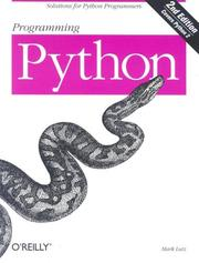 Programming Python by Mark Lutz