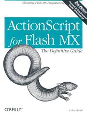 Cover of: ActionScript for Flash MX by Colin Moock