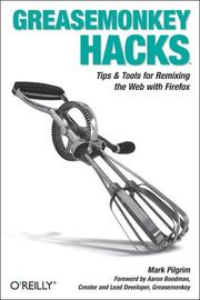 Greasemonkey hacks by Mark Pilgrim
