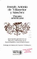 Theatro americano by Jos Antonio de Villaseor y Snchez