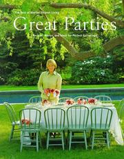 Cover of: Great parties by Martha Stewart