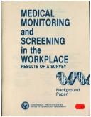Medical monitoring and screening in the workplace PDF