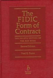 The FIDIC form of contract by Nael G. Bunni