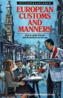 European customs and manners PDF