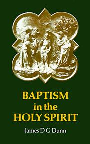 Baptism in the Holy Spirit by Dunn, James D. G.