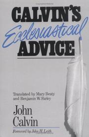 Calvin's ecclesiastical advice PDF