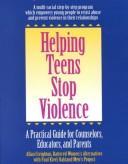 Helping teens stop violence PDF