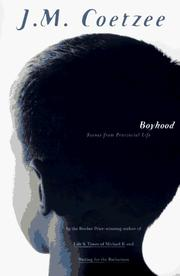 Boyhood by John Maxwell Coetzee