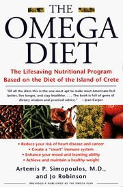 The Omega diet by Artemis P. Simopoulos
