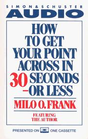How To Get Your Point Across In 30 Seconds Or Less Cassette PDF