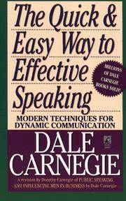 Public speaking by Dale Carnegie
