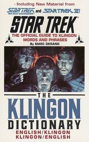 The Klingon dictionary by Marc Okrand