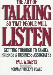 The art of talking so that people will listen PDF