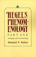 Hegel's Phenomenology, part I PDF