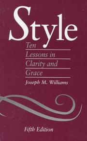 Style by Joseph M. Williams