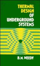 Thermal design of underground systems by B. M. Weedy