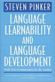 Language learnability and language development PDF