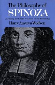 The philosophy of Spinoza by Wolfson, Harry Austryn