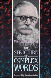 The structure of complex words by Empson, William