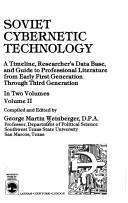 Soviet Cybernetic Technology PDF