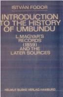 Introduction to the history of Umbundu by Fodor, István.