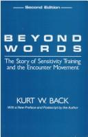 Beyond words by Kurt W. Back