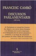 Discursos parlamentaris (1907-1935)