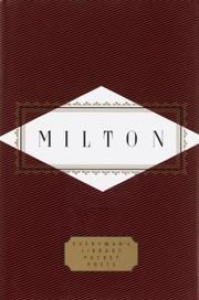 Cover of: Milton by John Milton