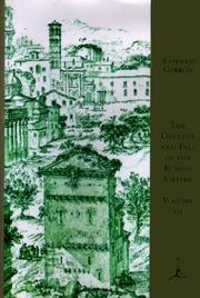 Cover of: The  decline and fall of the Roman Empire by Edward Gibbon