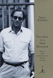 Cover of: The soul of a new machine by Tracy Kidder