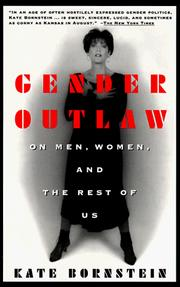 Cover of: Gender outlaw by Kate Bornstein
