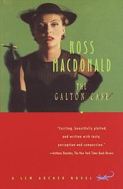 The Galton case by Macdonald, Ross