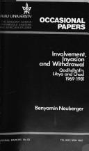 Involvement, invasion, and withdrawal by Ralph Benyamin Neuberger
