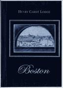 Boston by Henry Cabot Lodge