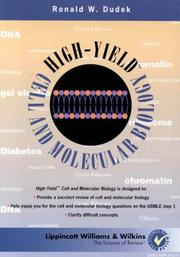 Cover of: High-Yield Cell and Molecular Biology by Ronald W. Dudek