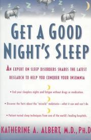 Get a Good Night's Sleep PDF