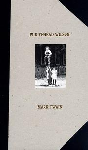 Pudd'nhead Wilson by Mark Twain