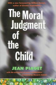 The moral judgment of the child PDF