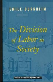 The division of labor in society by mile Durkheim