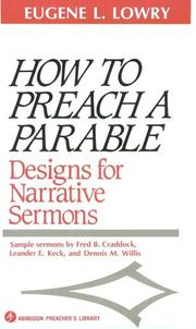 How to preach a parable PDF