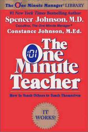 The one minute teacher PDF