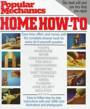 Popular mechanics home how-to by Jackson, Albert