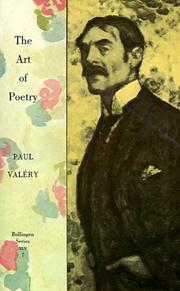 Cover of: The art of poetry by Paul Valéry