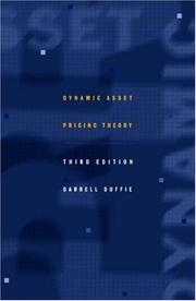 Cover of: Dynamic asset pricing theory by Darrell Duffie