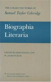Cover of: Biographia literaria, or, Biographical sketches of my literary life and opinions by Samuel Taylor Coleridge