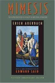 Mimesis by Auerbach, Erich