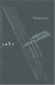 Liberal Languages by Michael Freeden