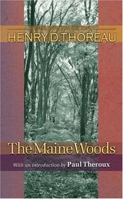 Cover of: The Maine Woods by Henry David Thoreau